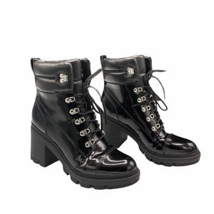 Marc Fisher Black Kachine Combat Booties New